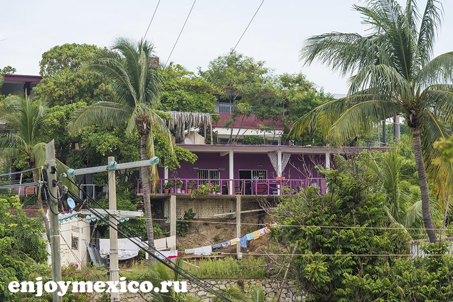 домики пуэрто ангель мексика