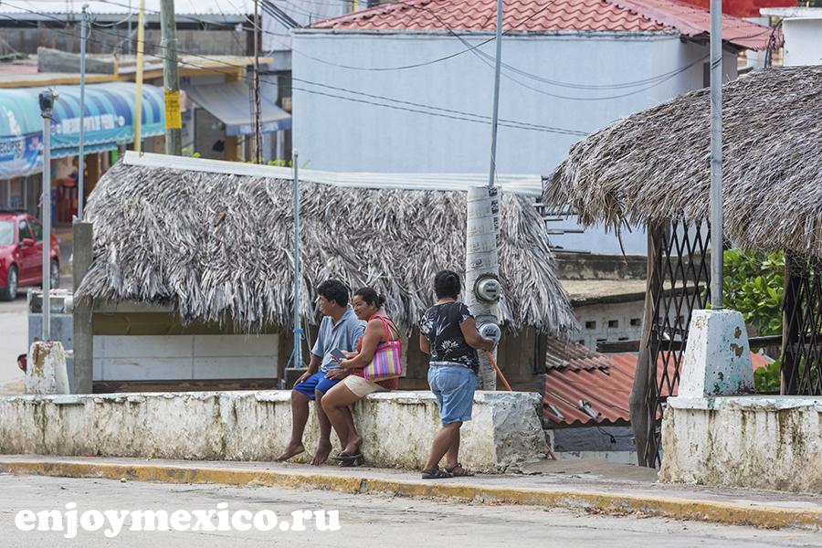 местные жители пуэрто ангель мексика