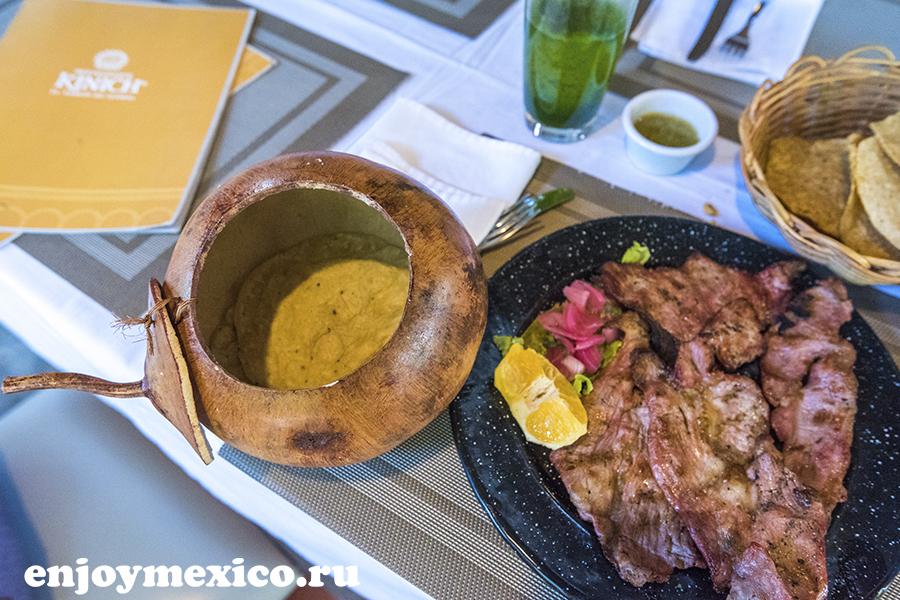 еда в ресторане мексики изамаль