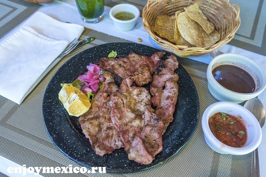 еда в ресторане мексики изамаль киних