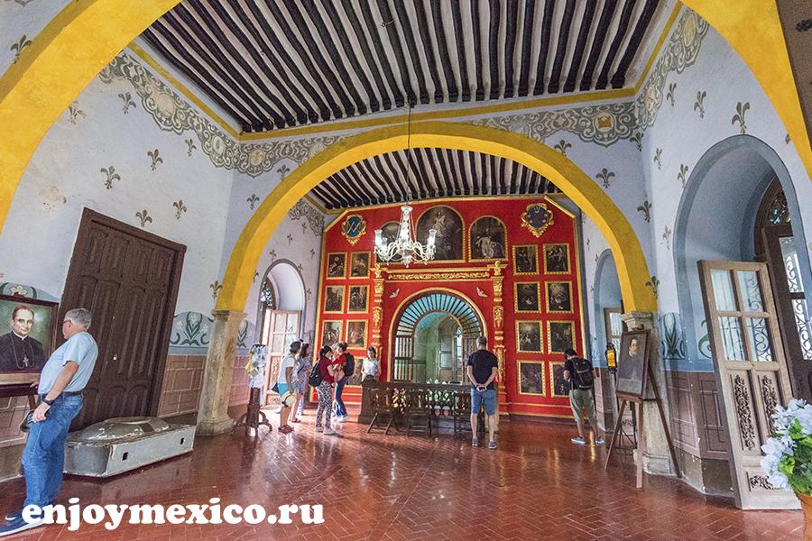 старинное помещение изамаль мексика