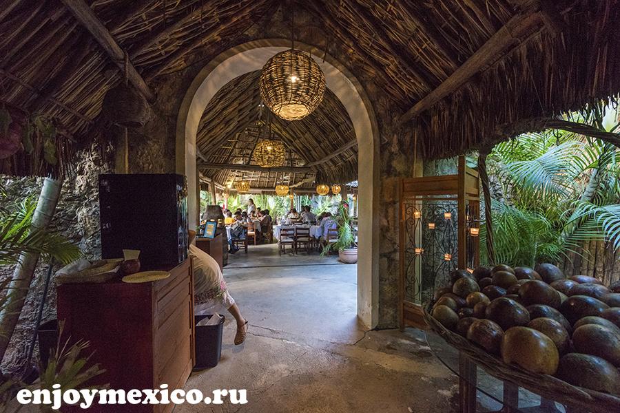 зал в ресторане мексика изамаль
