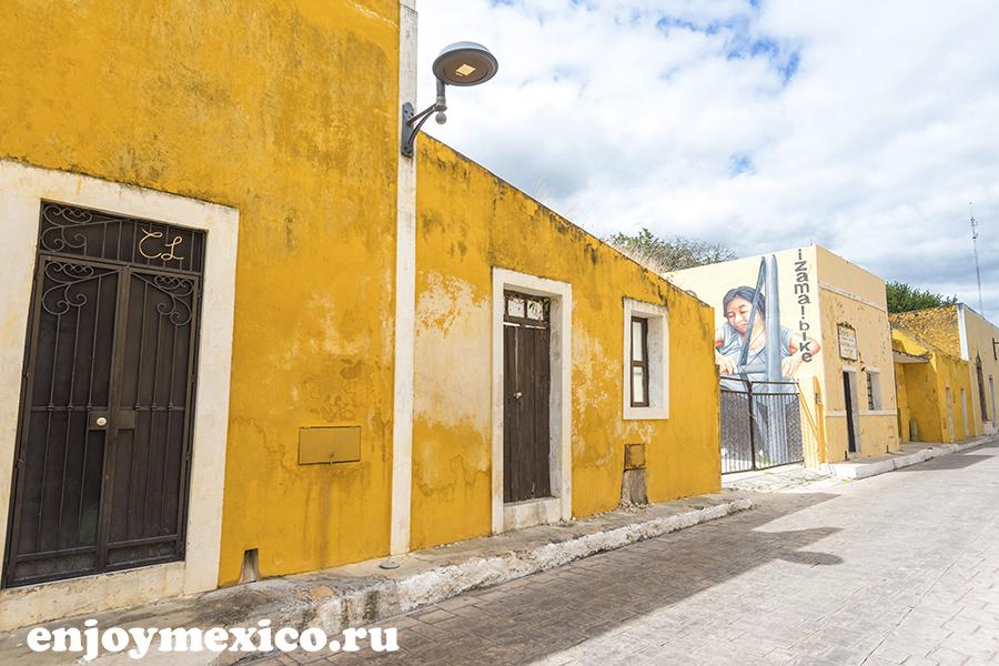 желтые дома в мексике фото