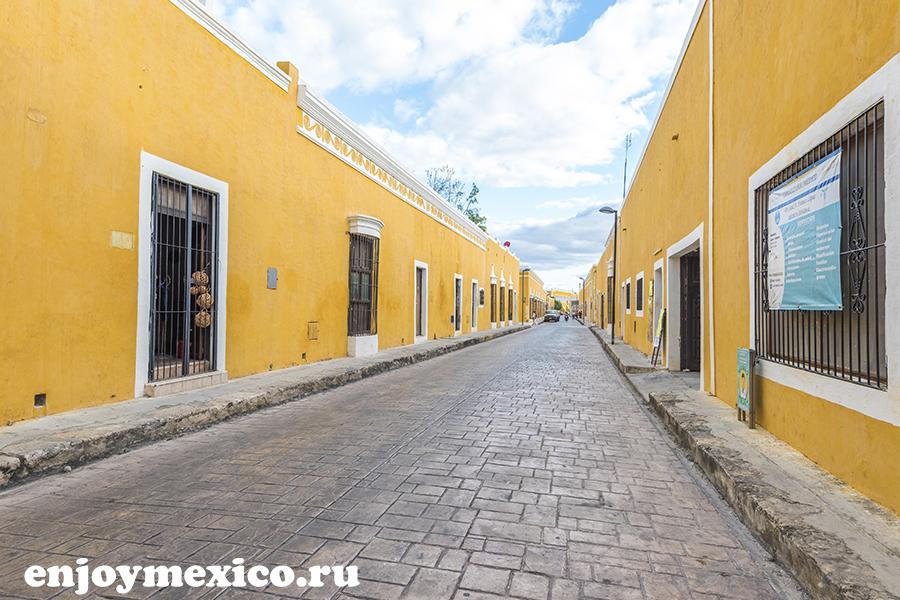 желтые улицы в изамаль мексика