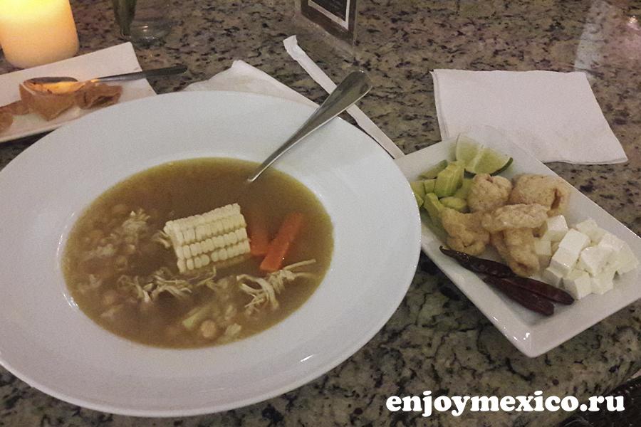 кальдо тлалпеньо еда в мексике