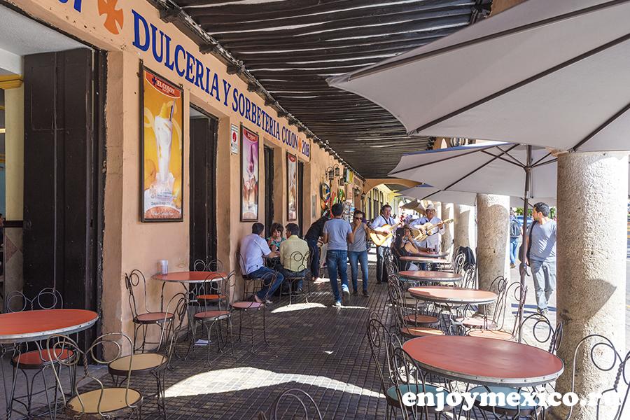 кафе в центре мериды мексика
