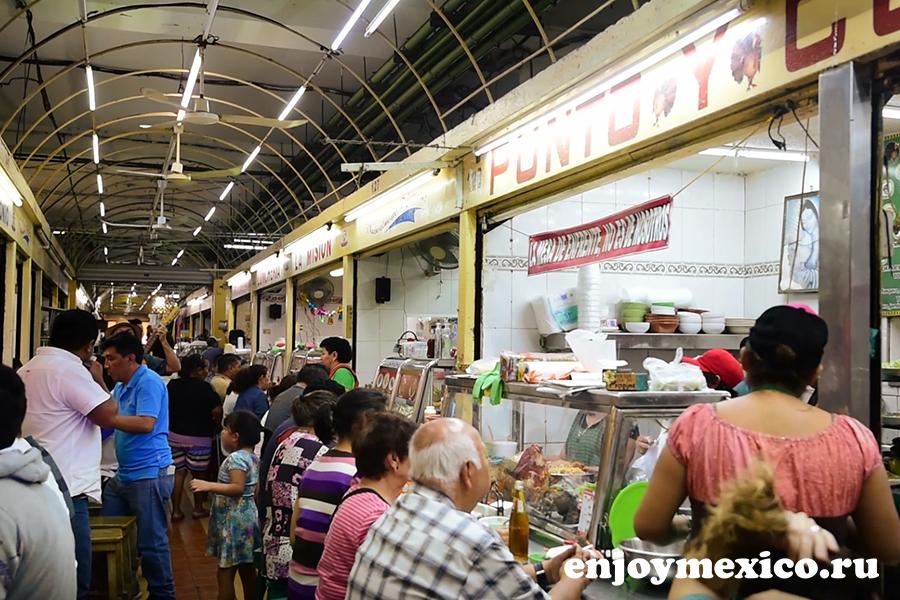 местный рынок в мексике