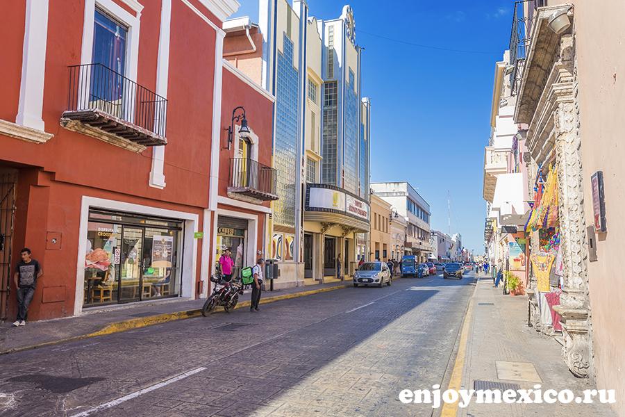улица в мериде мексика